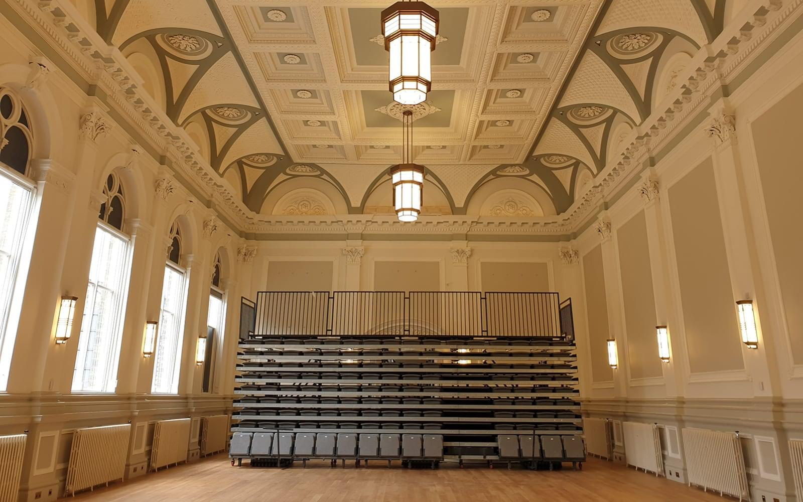 Folded seating at Skipton Concert Hall