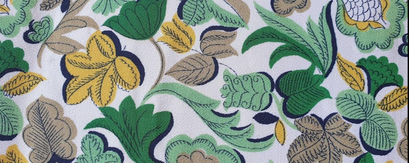 Floral Pattern sample printed on silk