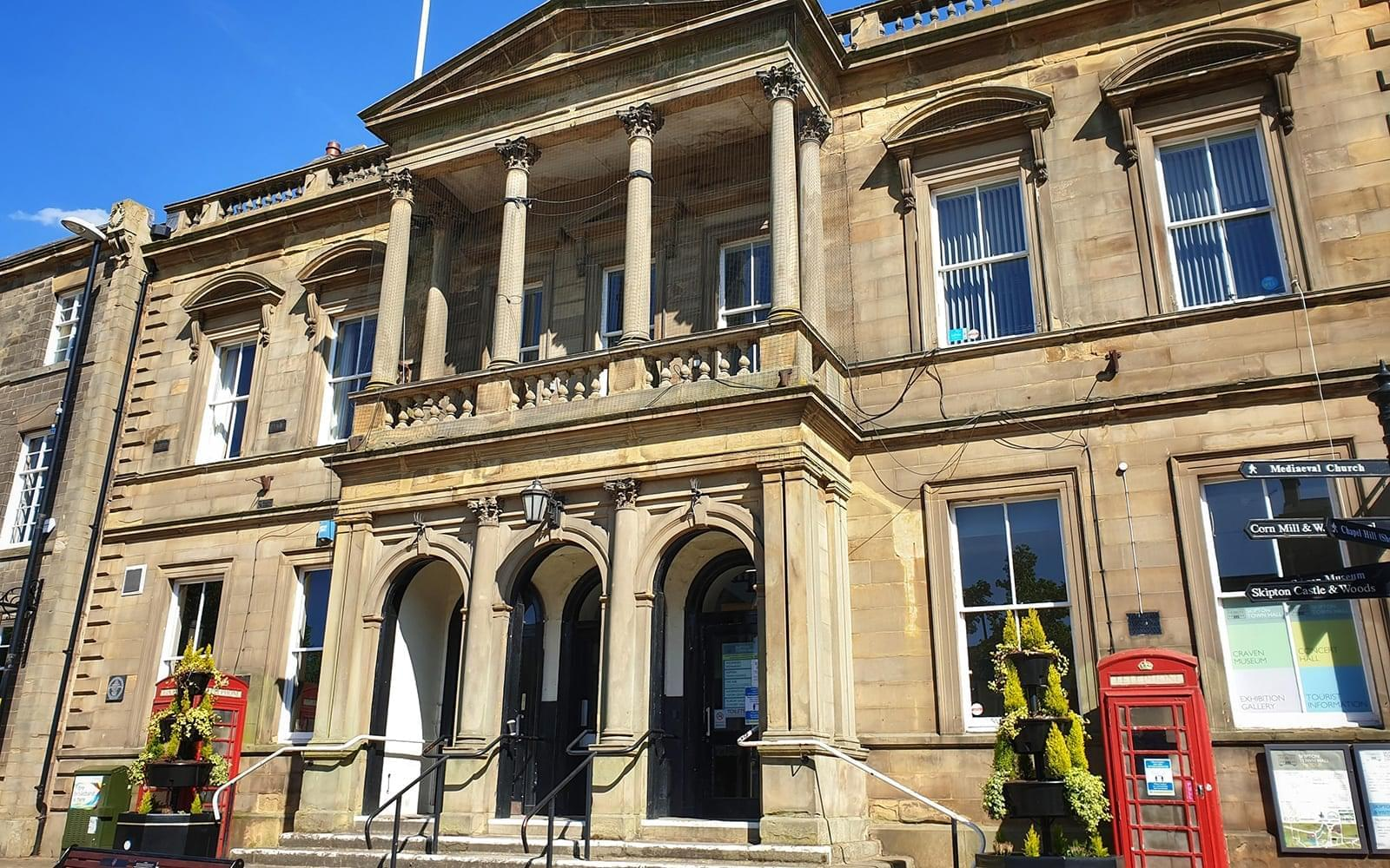 Front entrance of Skipton Town Hall